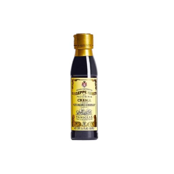 Glassa a base di aceto balsamico di modena IGP alla vaniglia 150 ml