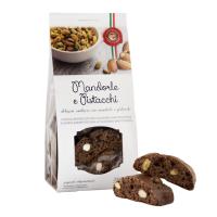 Cantuccini al cacao con Mandorle e Pistacchi 200 g