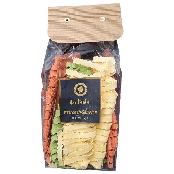 Eierteignudel Frastagliate Primavera in 3 Farben 500 g