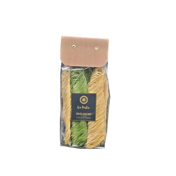 Eierteignudel Tagliolini Heu und Stroh mit Spinat 500 g