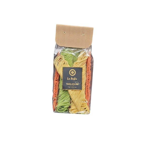 Eierteignudel Tagliolini Primavera in 3 Farben 500 g