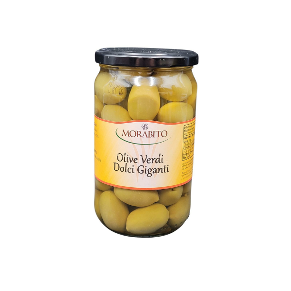 Grüne große liebliche Oliven 550 g