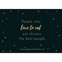 """Karte """"People who love to eat"""""""