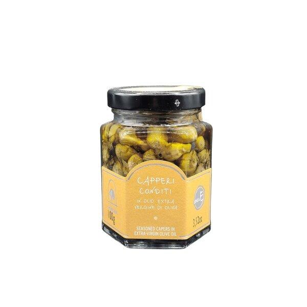 Kapern mit Gewürze in Extra Verigne Olivenöl 100 g