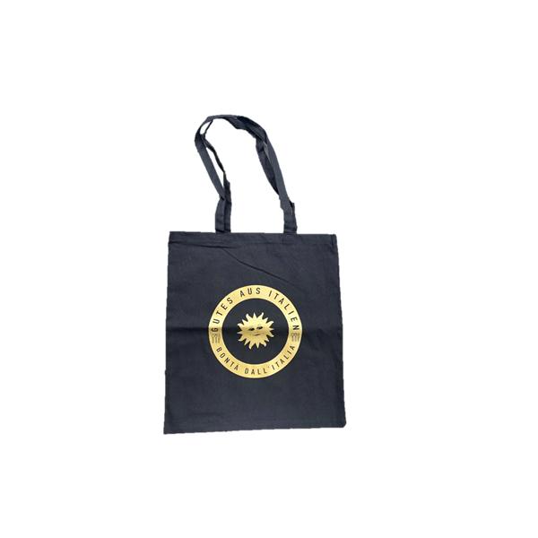 Schwarze große Stofftasche