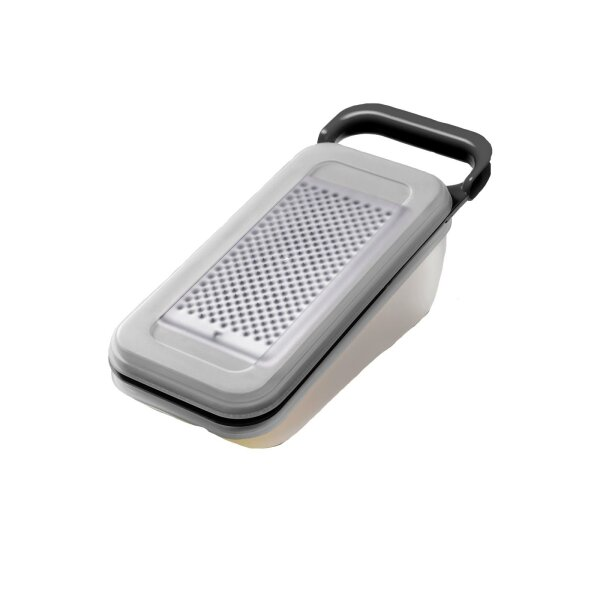 Stainless steel container and lid grater